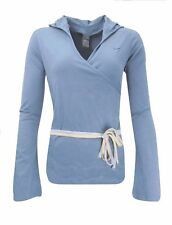 Nike Women`s Yoga Cover up Wrap Top Size UK 12 (us 8) M Shirt Genuine