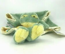 My Banky Paddy Plush Frog Security Blanket Lovey Green Yellow NWT New
