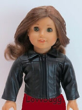 "Cool Black Leather Jacket for 18"" American Girl Doll Best Selection"