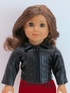 """Cool Black Leather Jacket for American Girl 18"""" Doll Clothes LOVVBUGG VARIETY 🐞"""