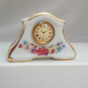 Floral Mantel Clock  1.464/5 miniature dollhouse furniture 1/12 scale Reutter