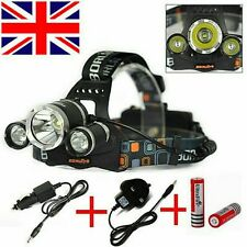 30000 Lumen 3x LED XM-L T6 18650 Headlamp Headlight Head Light Torch Flashlight