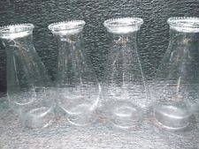 shade Antique Beaded Rim Glass hurricane Oil Lamp light Chimney 8 .5 H 1.each