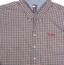 Tommy Hilfiger Blue Red White Plaid Button Down Mens Shirt size 6X