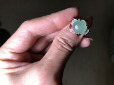 Certified Grade A Jadeite -Nice Green Ring Shinny & Watery US SIZE 6