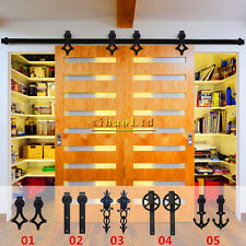 2.5 20FT Interior Antique Sliding Barn Door Hardware Track Kit For  Singleu0026Double
