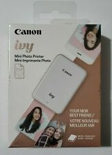 CANON IVY MINI PHOTO PRINTER BLUETOOTH  (WHITE+ROSE GOLD) NEW IN BOX FREE SHIP
