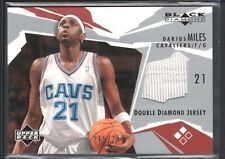 DARIUS MILES 2003/04 UD BLACK DIAMOND DOUBLE GAME USED JERSEY #/250 SP $10