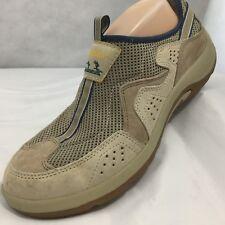 Cabelas Guidewear Sneakers Sz 9 Wide Hiking Camping Walking Shoes Tan Blue