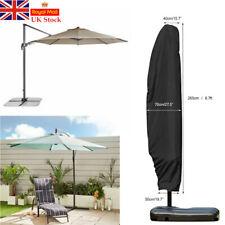 UK Extra Large Patio Cantilever Parasol Banana Umbrella Cover Waterproof 265CM