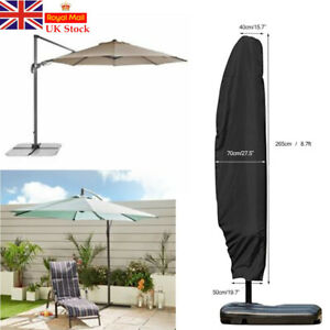 UK Extra Large Patio Cantilever Parasol Banana Umbrella Cover Waterproof 265CM