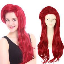 The Little Mermaid Ariel Cosplay Wig Princess Long Dark Red Styled Wavy Hair