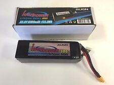 ALIGN 22.2V 6S 6 CELL 30C 6000MAH RC HELICOPTER MULTI ROTOR DRONE BATTERY !!