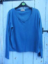 Ladies Teal  T.shirt 12 100% Cotton Tesco Fair Condition