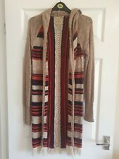 Aphorism Long Open Striped Cardigan Size 12