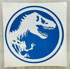 BLUE JURASSIC PARK Decal T-REX DINOSAUR TYRANNOSAUR Sticker