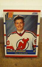 1990-91 Score Hockey #439 Martin Brodeur New Jersey Devils HOF Goalie Rookie NMT