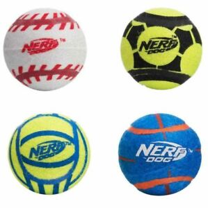 NERF Dog Sports Tennis Balls Mega Tuff Max Strength Solid Rubber 2 or 4 Pack