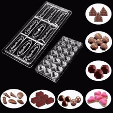14 Type Polycarbonate Clear Chocolate Molds Xmas Cookie Cake Tray Mould DIY