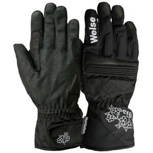 Weise Ladies Gemma Leather Textile Mix Waterproof Motorcycle Motorbike Glove