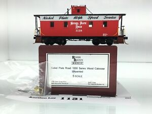 1131 River Raisin Nickel Plate Road Wood Caboose Brass S Scale 2 Rail Painted