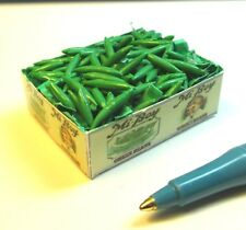 Dollhouse Miniature Green Beans Crate, All Artisan Made # F495