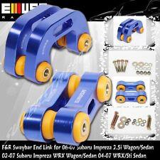 Front +Rear ANTI ROLL SWAY STABILIZER BAR End Link fit 02-07 Subaru Impreza WRX
