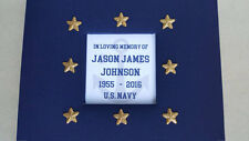 Custom Funeral Guest Book- navy veteran memorial service sign military us