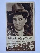FIGURINA 3 CALZE LUX Ronald Colman cinema MGM 1937