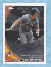 2010 Topps Chrome Baseball ~ Brennan Boesch ~ Tigers ~ Rookie Autograph #182