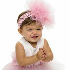 Mud Pie Little Girl Baby Pink Ballerina PLAIN Tulle Puff Hair Headband 171938