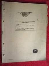 John Deere Attachments For Grain Drills & Hitches Parts Catalog Manual Ac-1004