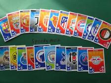Topps Champions League 2017 18 all 22 Badges Logos Wappen Club Match Attax UEFA