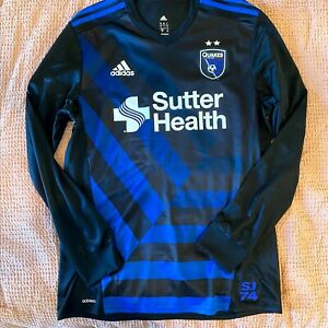 Authentic San Jose Earthquakes 2017-2018 Jersey **RARE LONG SLEEVE** USED