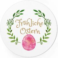 48 Oster-Aufkleber Set Frohe Ostern Geschenke Sticker Etiketten rund nostalgie