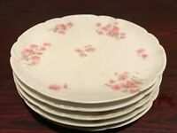 5 PC Haviland Limoges H&C L FRANCE Luncheon Plates Small Roses Flower Pattern