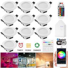10x Bluetooth WIFI APP Control Downlight RGB/WW/CW LED Ceiling Round Spotlights