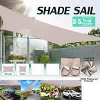 300D Heavy Duty Sun Shade Sail Waterproof Cloth Garden Patio Awning Canopy Cover
