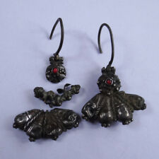 ANCIENT ARTIFACT THRACIAN SILVER UNIQUE EARINGS VERY OLD