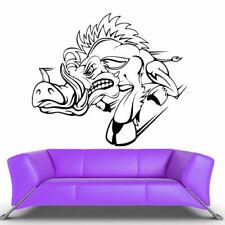 Wall Vinyl Sticker Bedroom Design Design Pig Boar Wild Boar Aper (Z402)