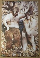 Chubby Couple Vintage Pin-up Man Woman 1960's Fat & Happy Heavy Hairy Lovers 60s
