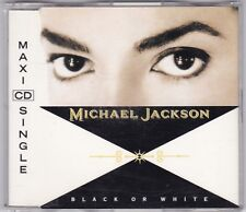 Michael Jackson-black or white 3 track Maxi CD Single 1991-Near Comme neuf