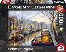 Along the Canal Schmidt Evgeny Lushpin Premium Quality Jigsaw Puzzle - 1000-P'ce