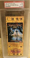 1997 Super Bowl XXXI 31 Full Ticket PSA 8 Packers Patriots