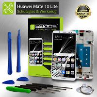 LCD Display für Original Huawei Mate 10 Lite Komplettes Display Weiß + Rahmen