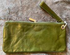 Hobo Genuine Leather Euro Slide Bayou Blue Wallet Credit Card Holder Retail $58