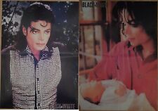 Michael Jackson poster LARGE from BW Magazine with Prince baby Thriller