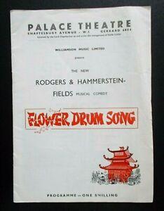 Flower Drum Song programme Palace Theatre 1960 Yau Shan Tung Tim Herbert