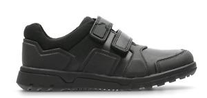 New Clarks Boys Blake Street Black Leather School Shoes E/F/G Fitting
