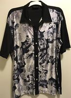 New Steady Rockabilly Hollywood Movie Star Actress Collage Panel Bowling Shirt L